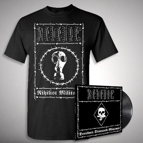 "Revenge - Deceiver.Diseased.Miasmic Nihilist - 10"" + T Shirt Bundle (Men)"