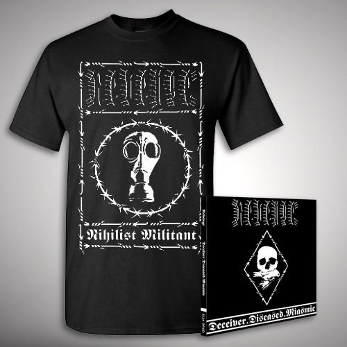 Deceiver.Diseased.Miasmic Nihilist - CD + T Shirt bundle (Men)