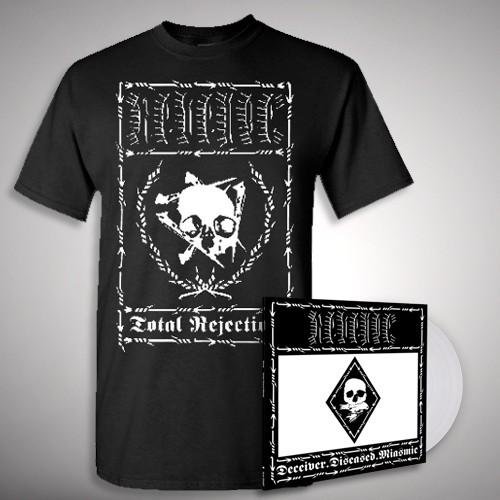 """Revenge - Deceiver.Diseased.Miasmic Rejection - 10"""" + T Shirt Bundle (Men)"""