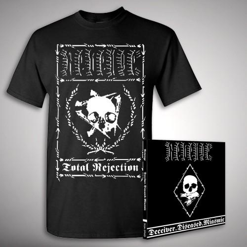 Revenge - Deceiver.Diseased.Miasmic Rejection - CD + T Shirt bundle (Men)